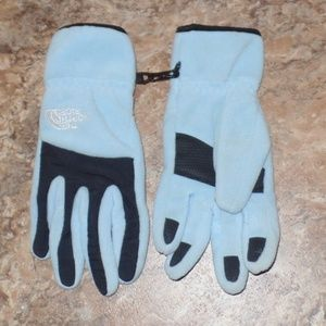 The North Face Denali Blue Fleece Gloves Small